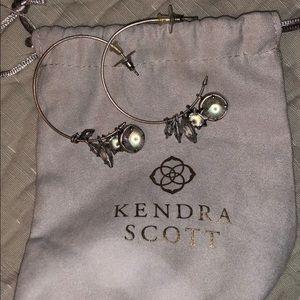 Gorgeous silver Kendra Scott charm hoop earrings